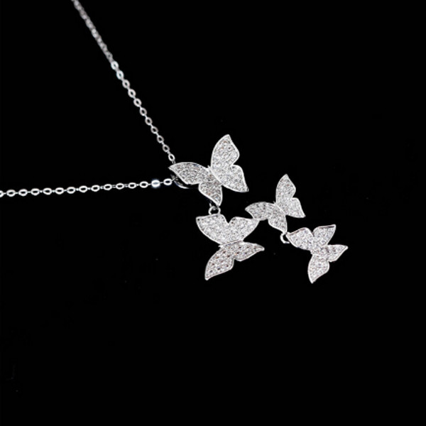 Butterfly Zircon Necklace 1 1