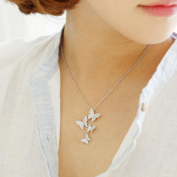 Butterfly Zircon Necklace 1