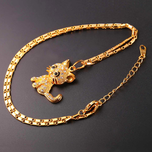 Cat Crystal Necklace 1