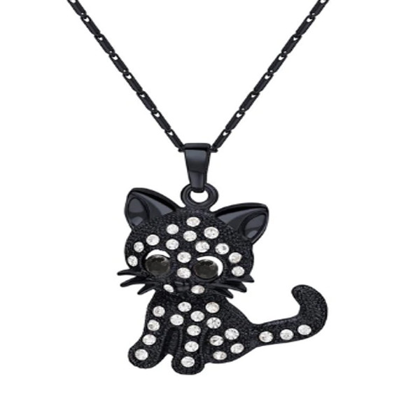 Cat Crystal Necklace 4