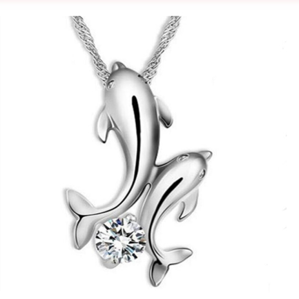 Double Dolphin Necklace 1