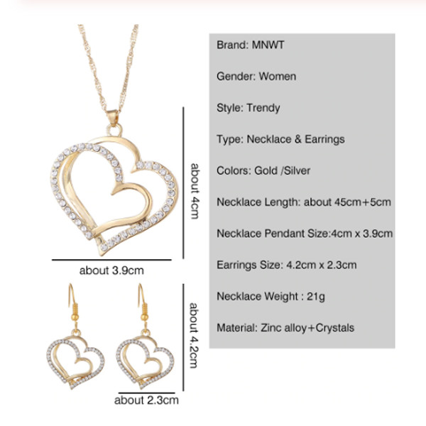 Double Heart Necklace 6