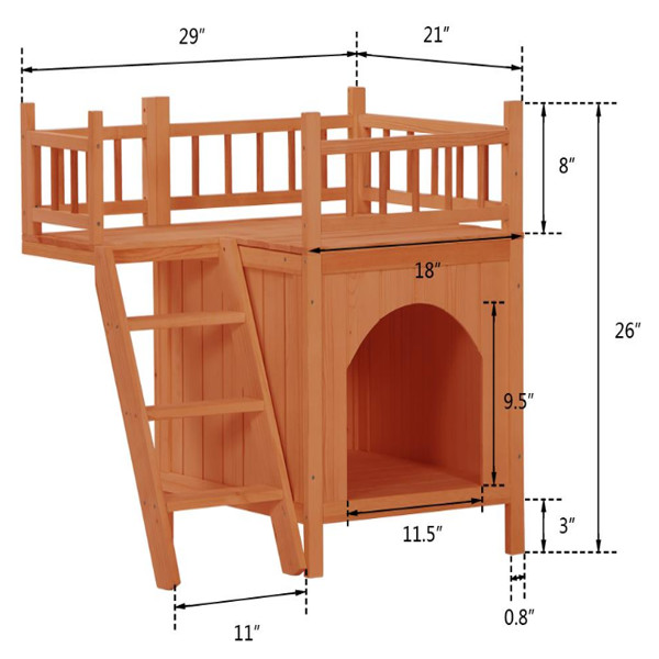 Wooden Dog Cat House 1 1