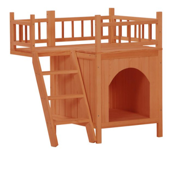 Wooden Dog Cat House