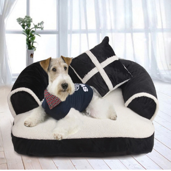 Dog Bed with Pillow 3