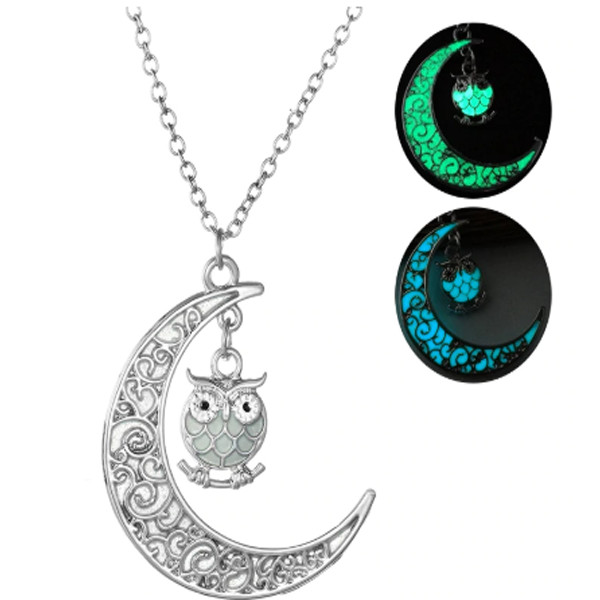 Owl Glow In The Dark Necklace