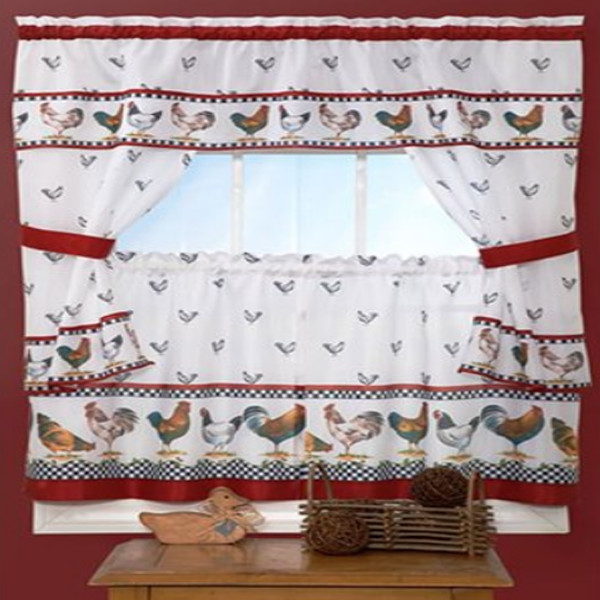 Rooster Curtains 1