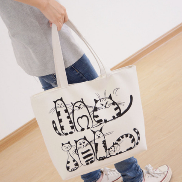 Cats Canvas Tote 1