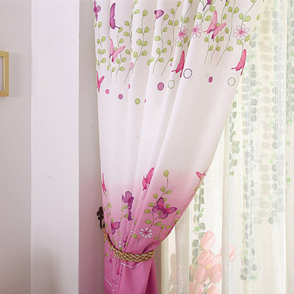 Butterfly Pink Curtains 1