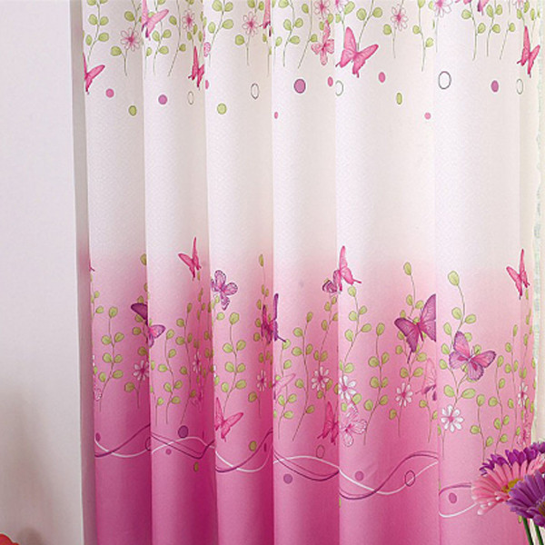Butterfly Pink Curtains 2