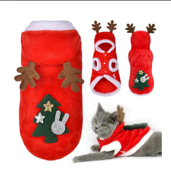 Christmas Cat Dog Santa Hoodie