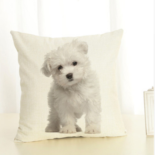 Dog Throw Pillow Cover 1