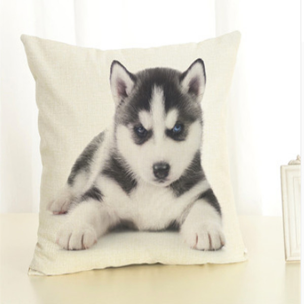 Dog Throw Pillow Cover 4