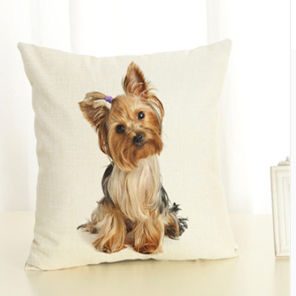Dog Throw Pillow Cover