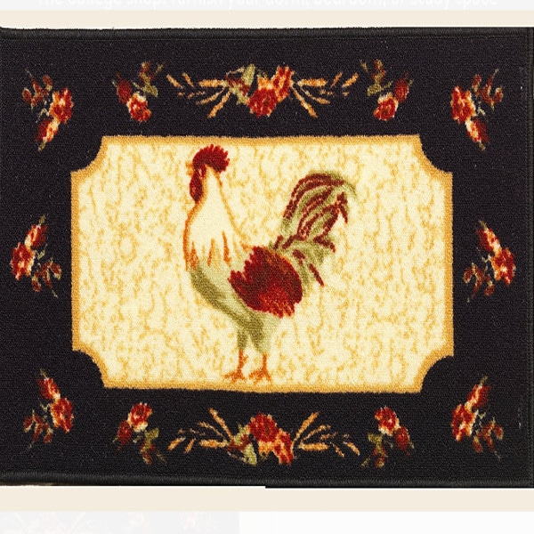 Rooster Rectangle Rug 1