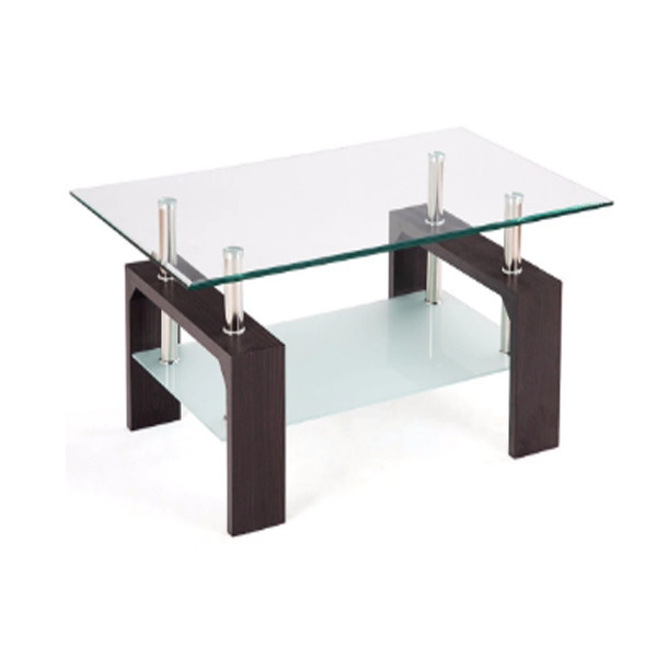 Coffee Table with Glass Shelves 1