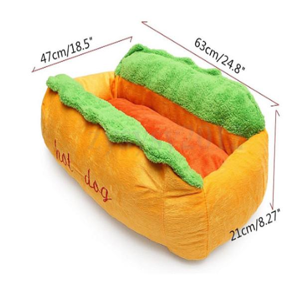 Dog Cat Hotdog Bed 1