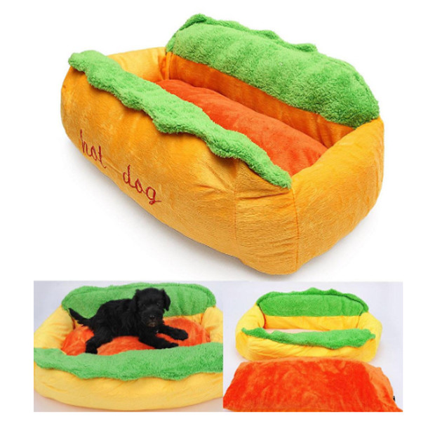 Dog Cat Hotdog Bed 3
