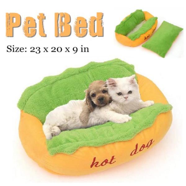 Dog Cat Hotdog Bed 6