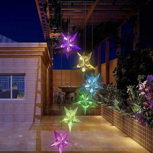 Christmas Solar Star Wind Chime 1