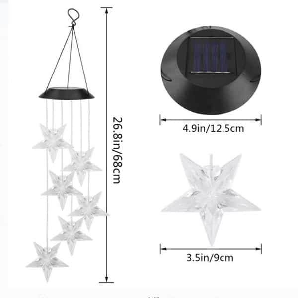 Christmas Solar Star Wind Chime 2