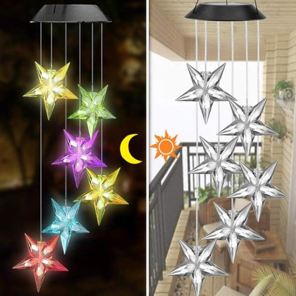 Christmas Solar Star Wind Chime 4
