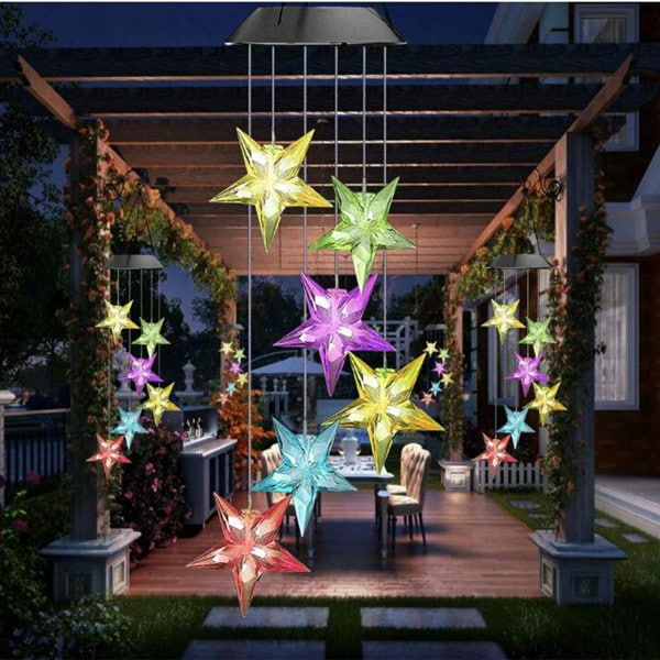 Christmas Solar Star Wind Chime 5