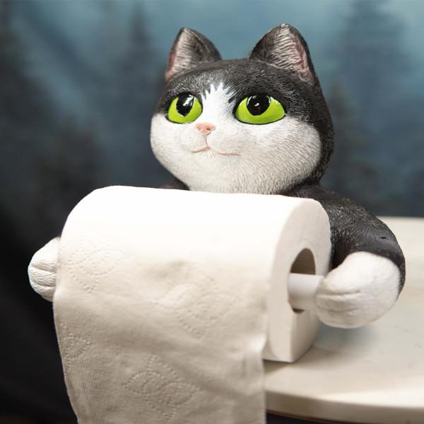 Cat Ceramic Toilet Paper Holder