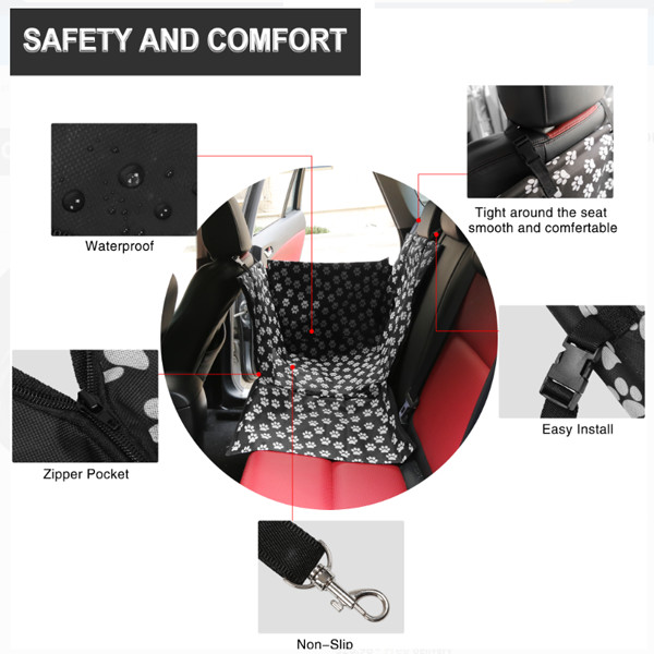 Dog Cat Waterproof Back Seat Cover 2