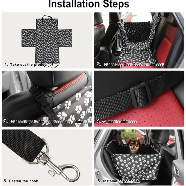 Dog Cat Waterproof Back Seat Cover 6