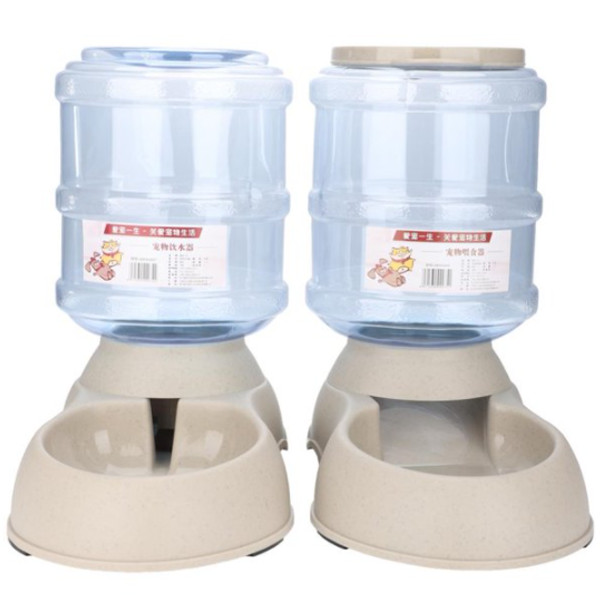 Dog Cat Automatic Food Water Bowl 1