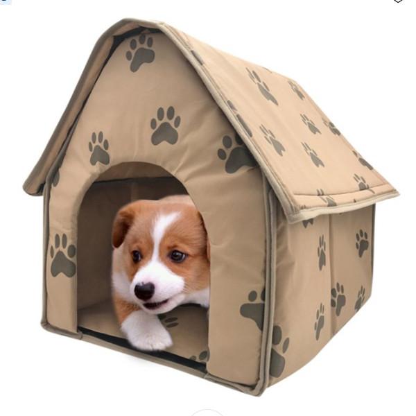Dog Foldable House Bed 1